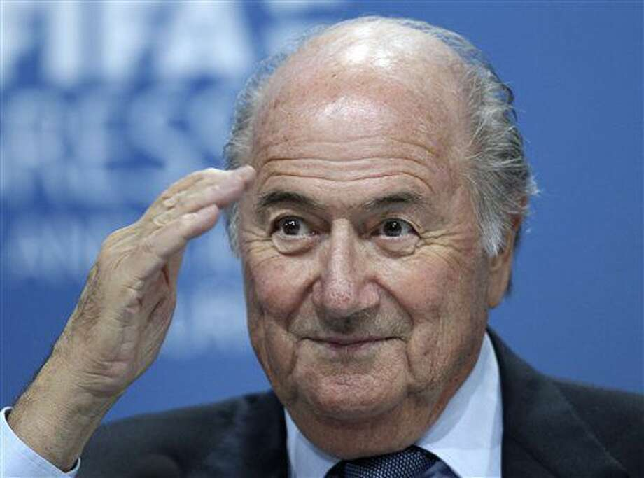 FILE - In this June 1, 2011 file photo Sepp Blatter attends a press conference in Zurich, Switzerland. Sepp Blatter will go to sport's highest court on Aug. 25, 2016 to challenge his six-year ban from football for approving a $2 million FIFA payment to an adviser. (AP Photo/Michael Probst, File) Photo: Michael Probst