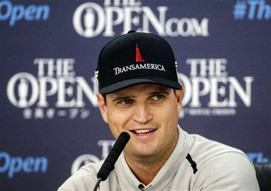 Defending British Open champion Zach Johnson of the U.S attends a press conference at the Royal Troon Golf Club in Troon, Scotland, Monday July 11, 2016. (Danny Lawson/PA via AP) Photo: Danny Lawson