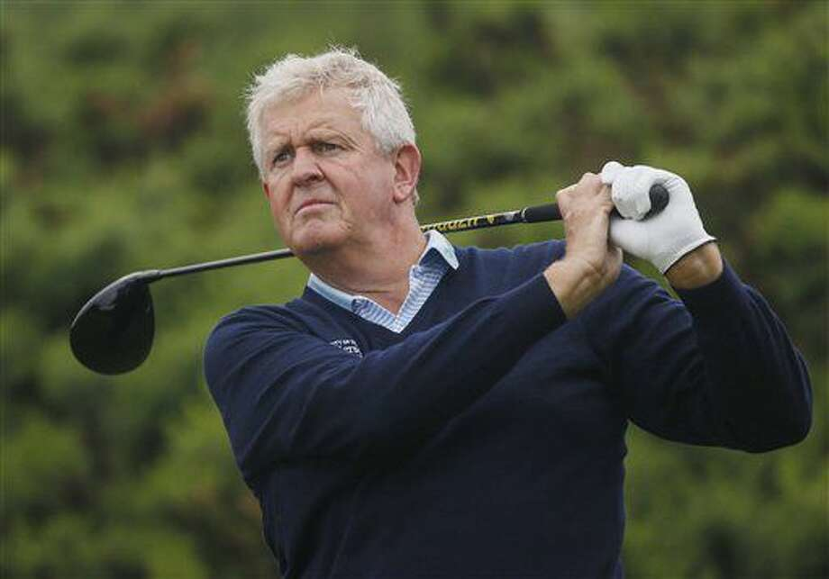 Scotland's Colin Montgomerie during a practice round at the British Open Golf Championship at the Royal Troon Golf Club in Troon, Scotland, Monday July 11, 2016. (Danny Lawson/PA via AP) Photo: Danny Lawson