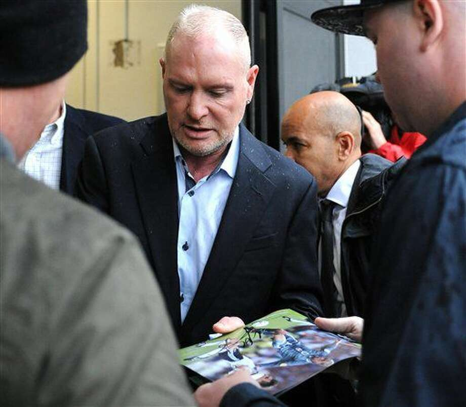 Former soocer star Paul Gascoigne arrives at the magistrates court in Dudley central England Wednesday June 29, 2016. Gasoigne faces a charge of racially abusing a security guard last November. (Rui Vieira/PA via AP) UNITED KINGDOM OUT NO SALES NO ARCHIVE Photo: Rui Vieira