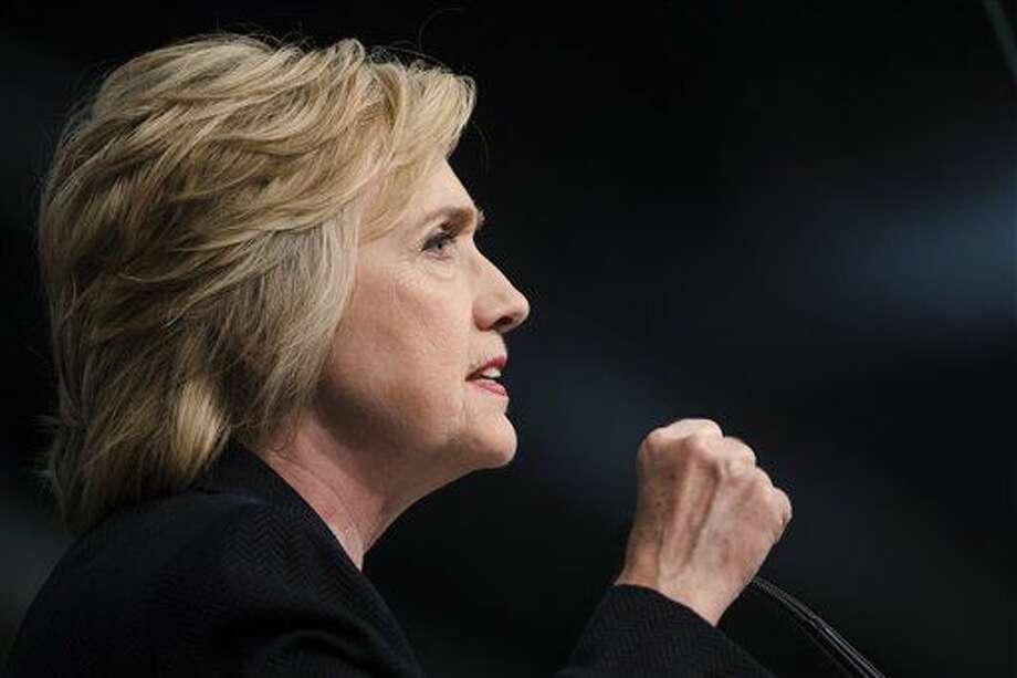 Hillary Clinton en un evento de campaña en Filadelfia el 8 de julio del 2016. (AP Foto/Matt Rourke, File) Photo: Matt Rourke