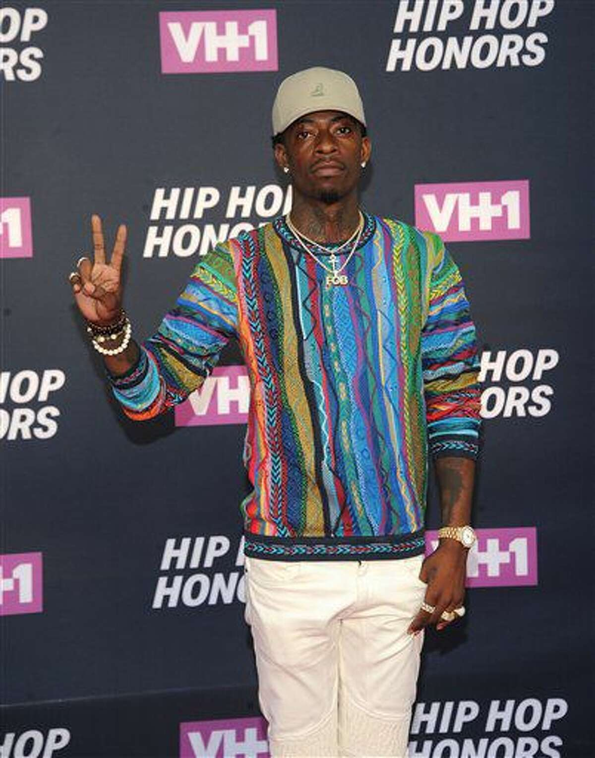 Rich Homie Quan attends the arrivals at VH1's Hip Hop Honors at David Geffen Hall at Lincoln Center on Monday, July 11, 2016, in New York. (Photo by Brad Barket/Invision/AP)