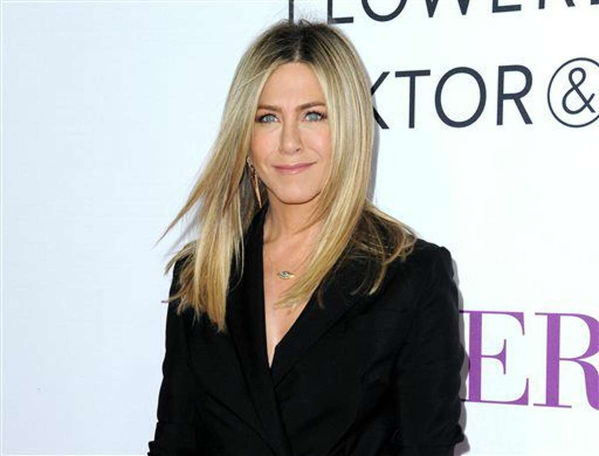 FILE - In this April 13, 2016 file photo, Jennifer Aniston arrives at the Los Angeles premiere of