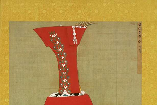 """A portrait of Kublai Khan's consort, Empress Chabi (1279-1368), is included in the exhibit """"Emperors' Treasures: Chinese Art From the National Palace Museum, Taipei"""" at the Museum of Fine Arts, Houston."""