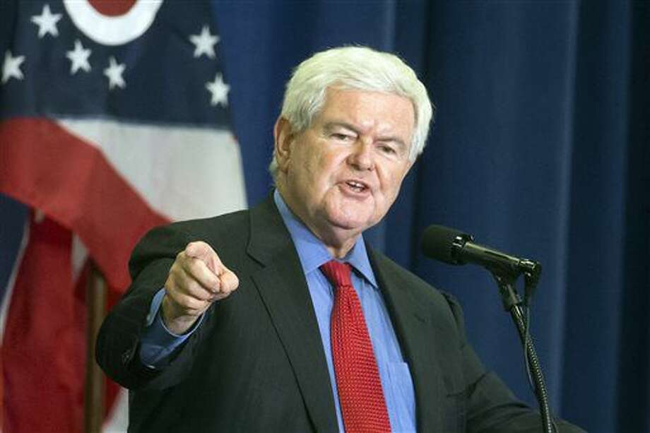 "FILE - In this July 6, 2016 file photo, former House Speaker Newt Gingrich speaks before introducing Republican presidential candidate Donald Trump during a campaign rally in Cincinnati. Fox News says it is suspending its contributor agreement with Newt Gingrich ""due to the intense media speculation"" about him as a potential vice presidential candidate of Republican Donald Trump. He joined the network in 1999, and his role was suspended in 2011 when he ran for president in 2012. He returned to Fox in 2015. (AP Photo/John Minchillo, File)"