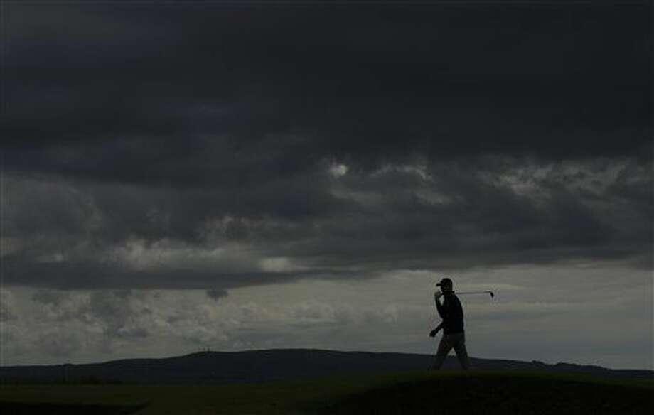Jordan Spieth of the US, walks on the 5th green during a practice round ahead of the British Open Golf Championship at the Royal Troon Golf Club in Troon, Scotland, Tuesday, July 12, 2016. (AP Photo/Matt Dunham) Photo: Matt Dunham