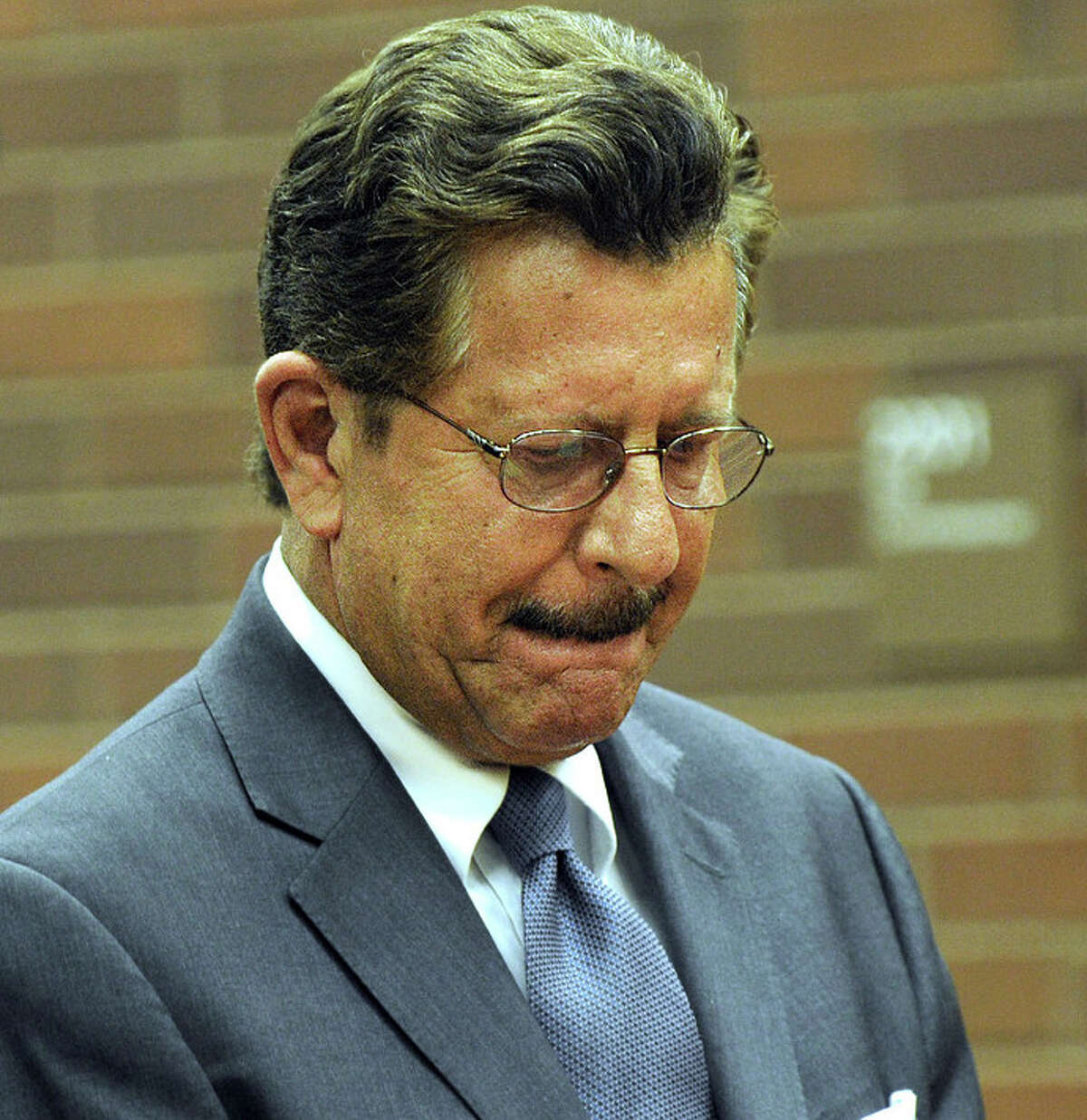Embattled Danbury Democratic Party leader Gene Eriquez in Superior Court, where he is facing domestic abuse charges.