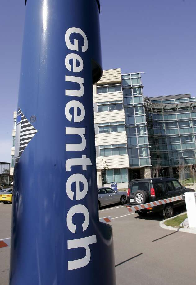 One Genentech employee went to the hospital as a precautionary measure following a small chemical spill at the biotechnology company's South San Francisco campus on Wednesday, July 13, 2016. Photo: Paul Sakuma, AP