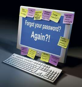 This photo illustration shows a computer screen with a password question. Passwords, user names, PIN numbers have become the flies in the Internet ointment, spoiling a perfectly good communications concoction. (Steve Wilson/Fort Worth Star-Telegram/KRT)