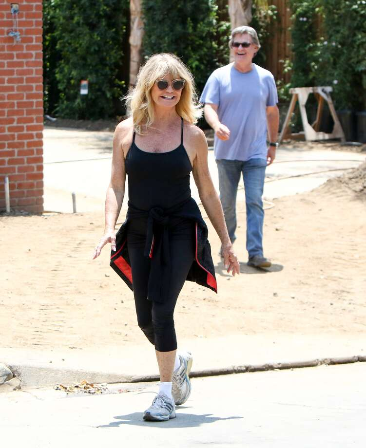 Goldie Hawn and Kurt Russell are seen on June 25, 2016 in Los Angeles, California. KEEP CLICKING FOR A THEN-AND-NOW LOOK AT STARS WHO WERE HOT IN THE 1970s WHO ARE NOW IN THEIR 70s.