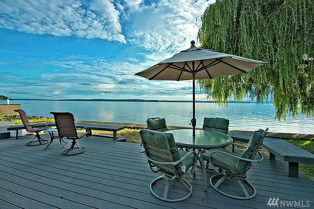 We'll start with this beach-side home in West Seattle. 5001 Beach Drive S.W. Listed for $1.35 million, the three bedroom, 2.5 bathroom home features 80 feet of prime waterfront access and an over-sized back deck. It's the perfect spot to kickback and catch the evening sunset. You can see the full listing here.