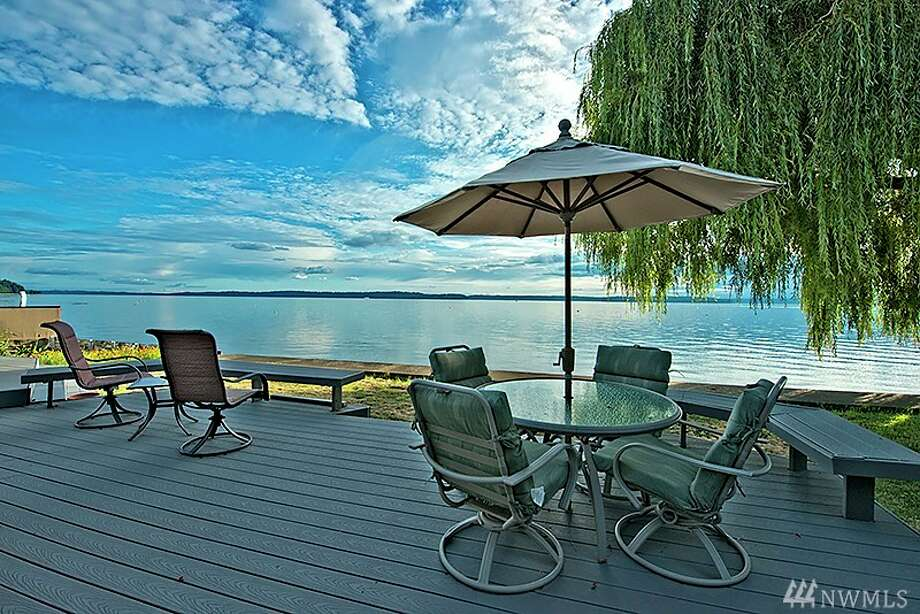 We'll start with this beach-side home in West Seattle. 5001 Beach Drive S.W. Listed for $1.35 million, the three bedroom, 2.5 bathroom home features 80 feet of prime waterfront access and an over-sized back deck. It's the perfect spot to kickback and catch the evening sunset.You can see the full listing here. Photo: Randie Lou Stone, Windermere R.E. Wall St. Inc.