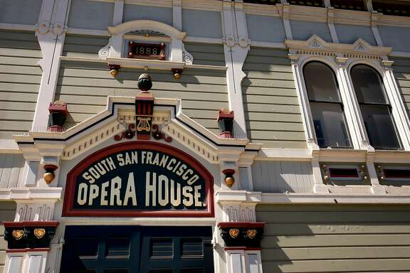 The restored facade of the Bayview Opera House in San Francisco, California, as seen on Wed. July 13, 2016. The city-owned landmark arts center which was built in 1888, received a three-year $5 million makeover and will reopen with ribbon cutting July 20.