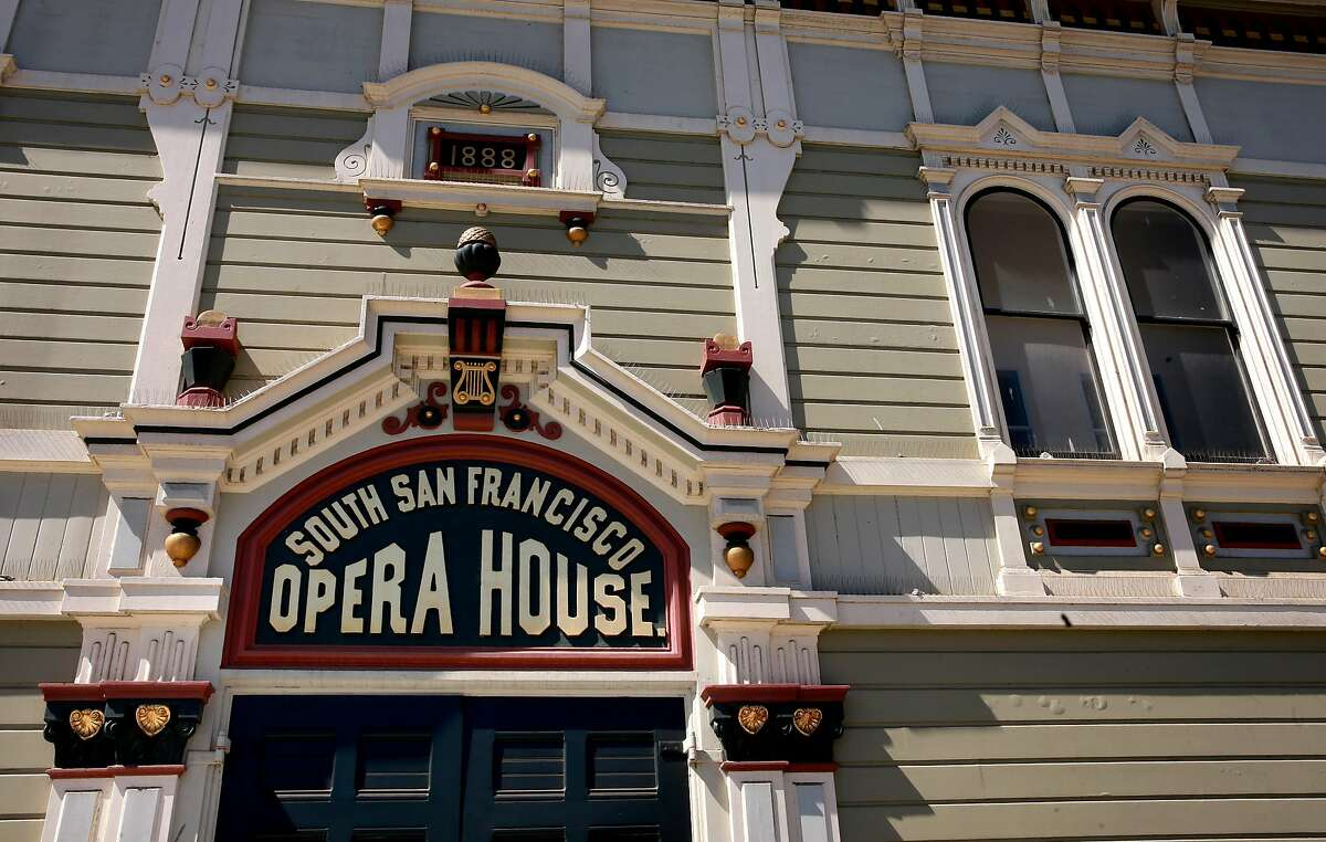 The restored facade of the Bayview Opera House in San Francisco, California, as seen on Wed. July 13, 2016. The city-owned landmark arts center which was built in 1888, received a three-year $5 million makeover.