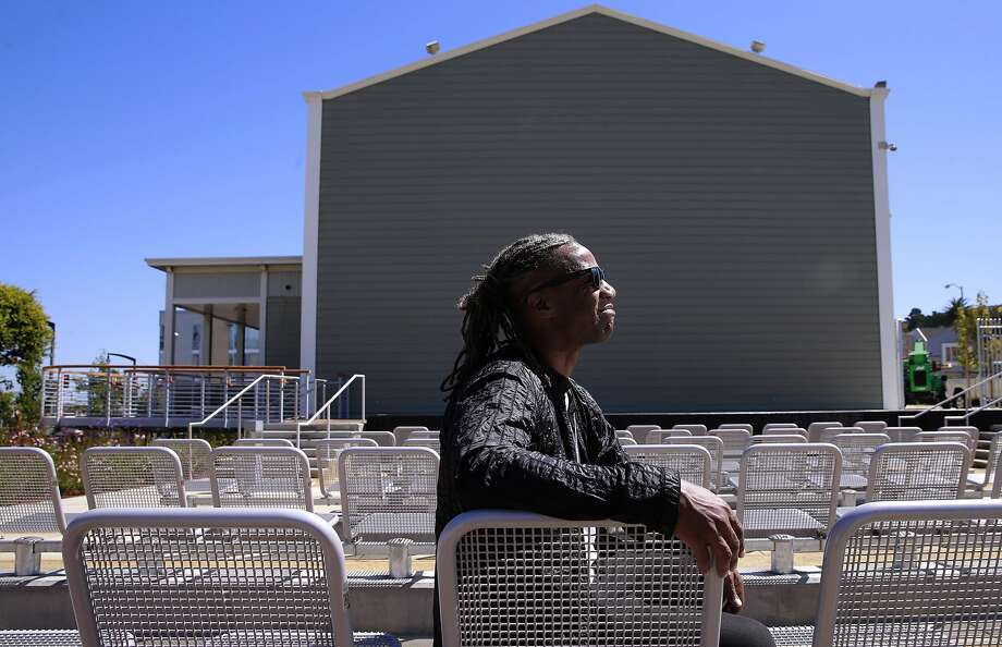 Designer Walter Hood in the seating area of the open-air theater at the Bayview Opera House. Photo: Michael Macor, The Chronicle