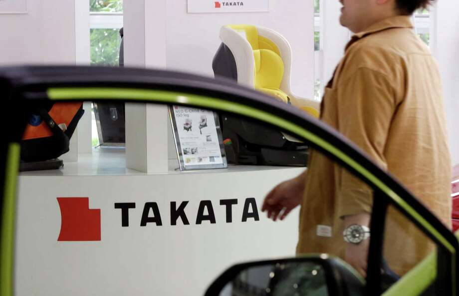 Takata executives are scheduled to meet in Japan with officials from more than a dozen customers this week, according to people with knowledge of the situation. The talks are prompted by five bids made for the beleaguered Takata. The central issue for Takata's customers, which include General Motors and Toyota, is how those takeover bids divvy up responsibility for paying billions of dollars in recall costs and potential legal liabilities stemming from faulty air bags. Photo: Eugene Hoshiko /Associated Press / Copyright 2016 The Associated Press. All rights reserved. This material may not be published, broadcast, rewritten or redistribu
