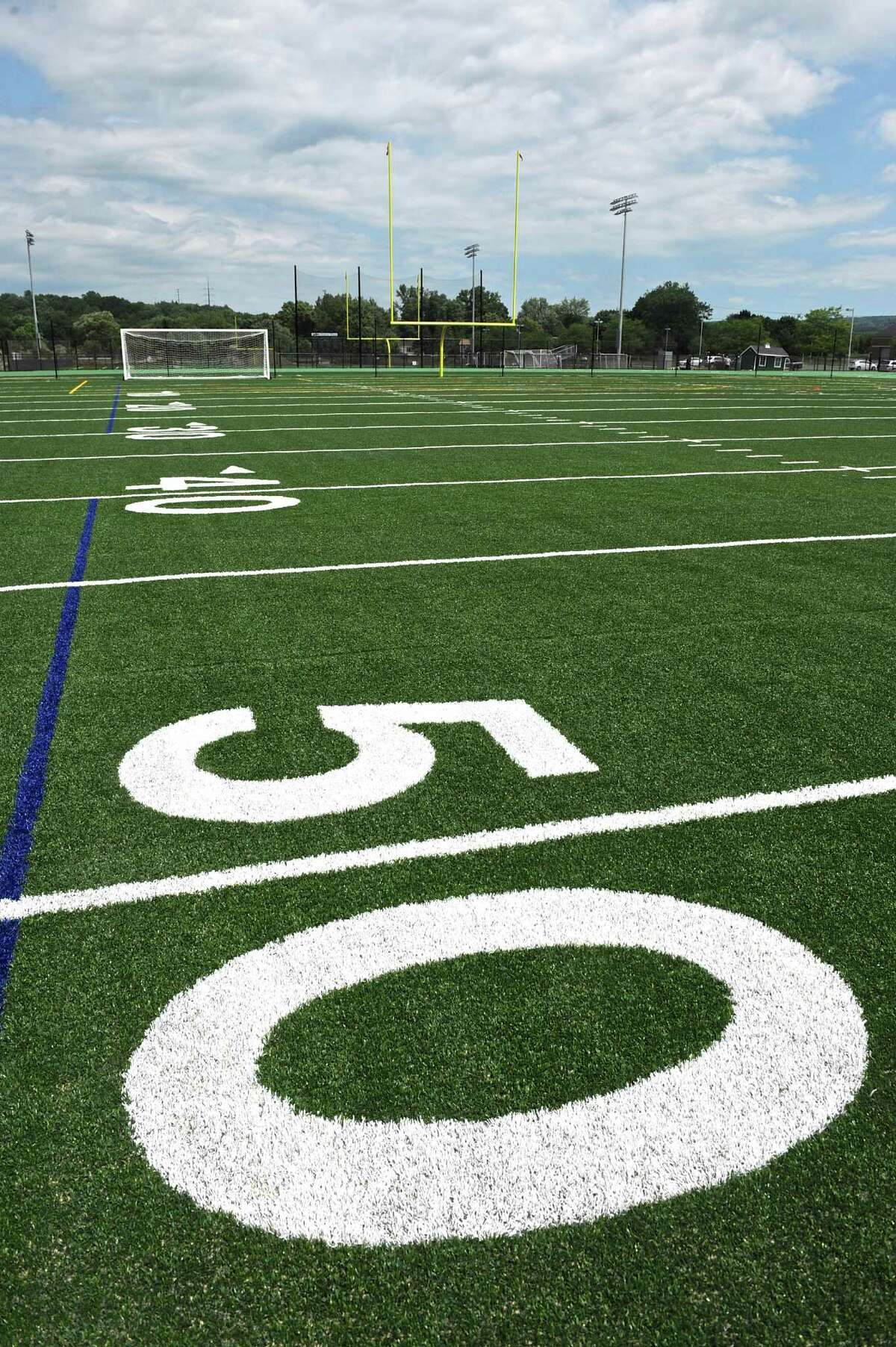 New Milford High School's athletic field complex is near completion.
