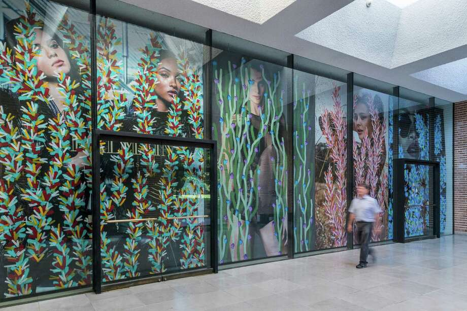 "Michael De Feo's mural ""Crosstown Traffic"" is at Rice Gallery through Aug. 28. Photo: Nash Baker / © Nash Baker"