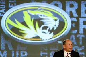 Missouri coach Barry Odom speaks to the media at the Southeastern Conference NCAA college football media days, Wednesday, July 13, 2016, in Hoover, Ala. (AP Photo/Brynn Anderson)