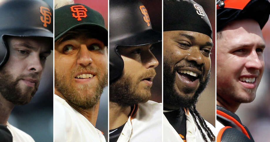 Brandon Belt, Madison Bumgarner, Brandon Crawford, Johnny Cueto and Buster Posey: Who has been Giants' most valuable player so far this season? Photo: The Chronicle Staff