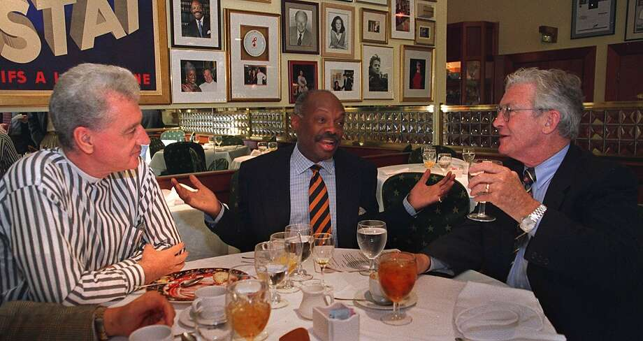From left, Joe O'Donoghue, then-Mayor Willie Brown and then-District Attorney Terence Hallinan in 2000. Photo: MICHAEL MACOR, The Chronicle
