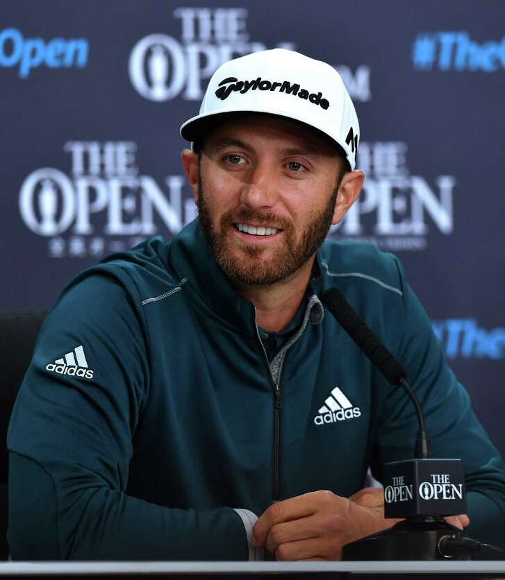 """U.S. Open champion Dustin Johnson is confident entering the British Open. """"I like my chances. But I go into every tournament liking my chances."""""""