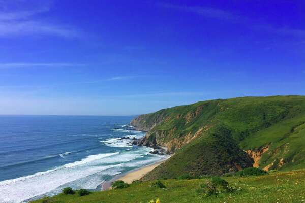 Tomales Point Trail photographed in April 2016.