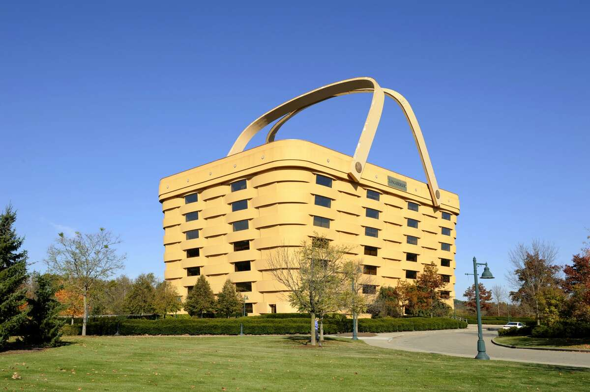 Longaberger's home office in Newark, Ohio is a seven-story building that was built to look like one of the company's baskets.