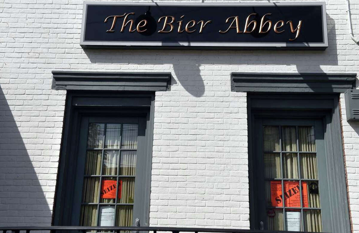 The Bier Abbey at 613 Union St. in Schenedtady, N.Y., shown here on Tuesday. The property has been seized for nonpayment of $700K in taxes.