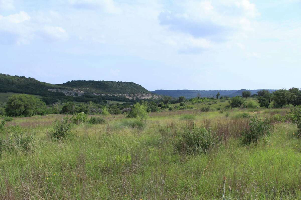 A view from the trail in early June at the Doeskin Ranch section of Balcones Canyonlands National Wildlife Refuge.