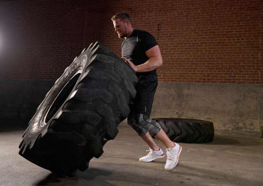 J.J. Watt, in a photo shoot for Reebok to launch his new sneaker, is expected to make a quick recovery from back surgery.  Photo: Bryan Bedder/Getty Images For Reebok