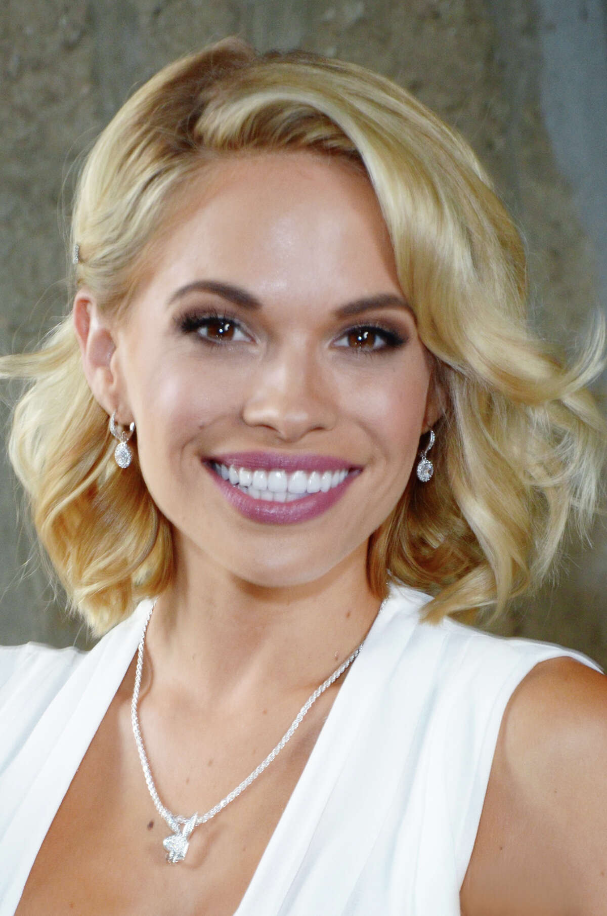 """Playboy's 2015 Playmate of the Year Dani Mathers is honored at Playboy's """"2015 Playmate Of The Year"""" announcement & luncheon at The Playboy Mansion on May 14, 2015 in Los Angeles, California."""