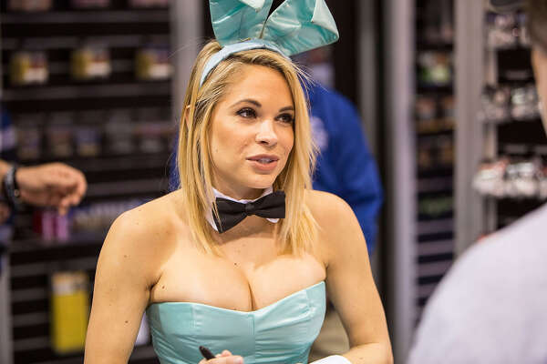 ANAHEIM, CA - JANUARY 22:  Playboy Playmate of the Year 2015 Dani Mathers appears at NAMM Show - Day 2 at Anaheim Convention Center on January 22, 2016 in Anaheim, California.  (Photo by Daniel Knighton/FilmMagic)