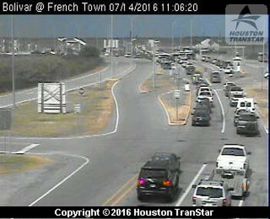Ferry service was suspended about 10:30 a.m. Thursday, July 14, 2016, to and from Bolivar Peninsula after a suspicious package was spotted on one of the vessels. (Houston TranStar)