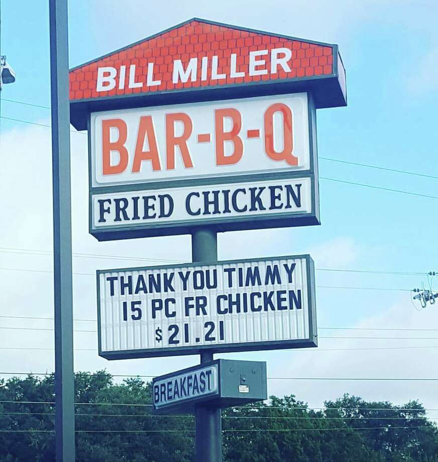 Bill miller bar b q honoring tim duncan 39 s retirement with for Dining near at t center san antonio