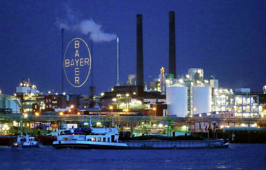 """Bayer said full-year profit for its agrochemicals division will probably decline by a low-single-digit percentage, instead of climbing as it had previously projected. """"The agriculture market has gotten more difficult and that can certainly be a trigger for market consolidation,"""" analyst Thorsten Strauss said. Photo: Associated Press /File Photo / dpa"""