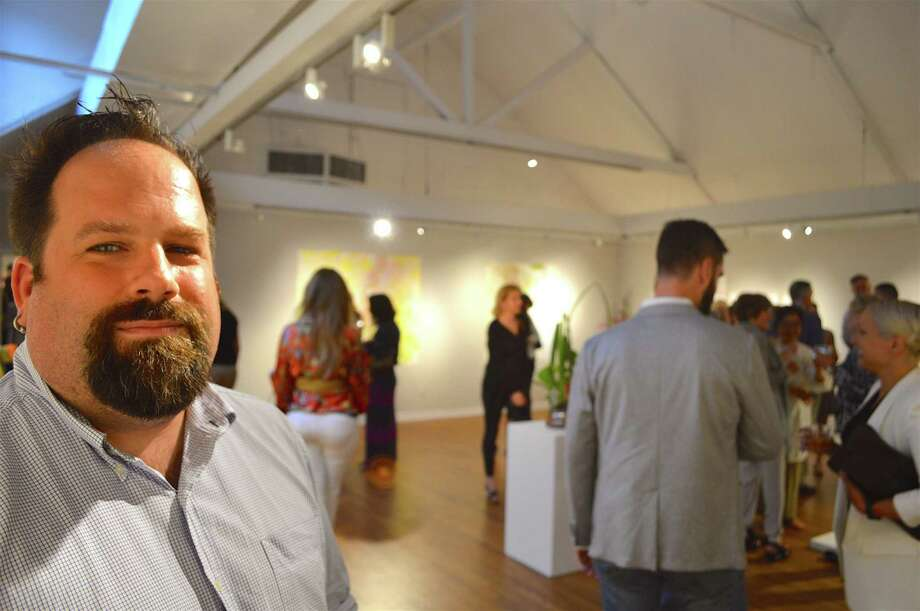 Jeffrey Mueller, gallery director, said only 25 artists were chosen from among 513 from throughout the northeast, for the annual show, Art of the Northeast, which opened Saturday, July 9, 2016, at the Silvermine Arts Center. Photo: Contributed Photo / Hearst Connecticut Media / New Canaan News