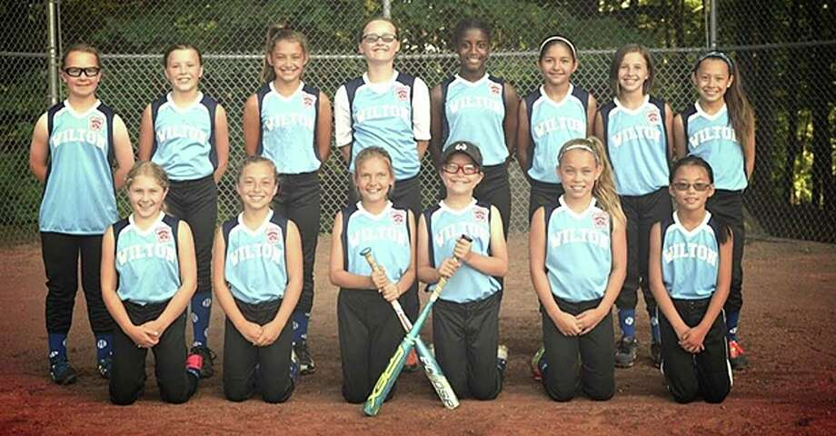 The Wilton Little League 10-year-old softball team is pictured before they start their District 1 tournament last week. Photo: Contributed Photo / Hearst Connecticut Media / Norwalk Hour
