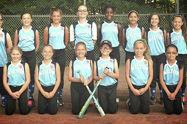 The Wilton Little League 10-year-old softball team is pictured before they start their District 1 tournament last week.