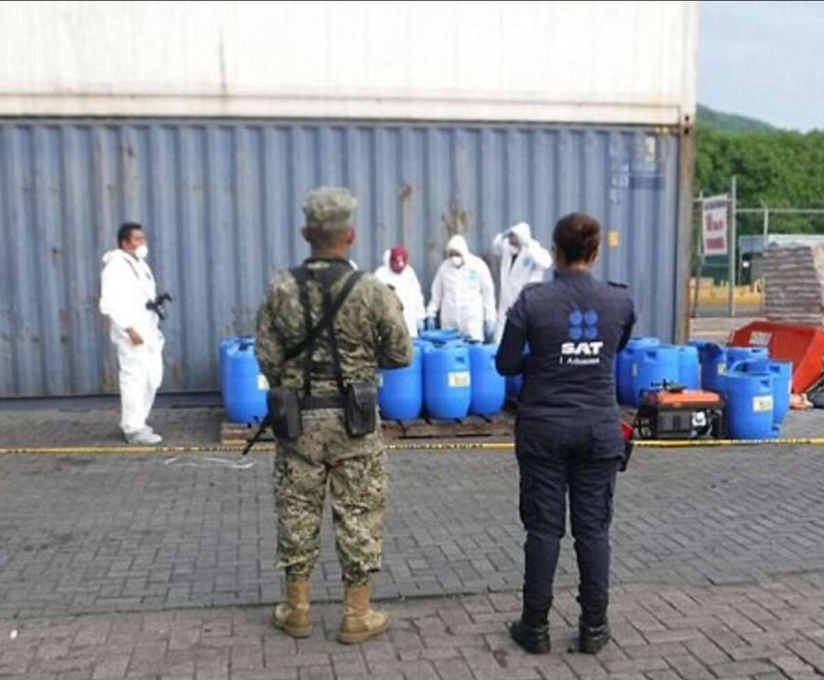 Mexican authorities seized 13 tons of cocaine hidden in barrels full of hot sauce in July 2016. The drugs are believed to be linked to the Sinaloa Cartel, which Joaquin 'El Chapo' Guzman is a member of.