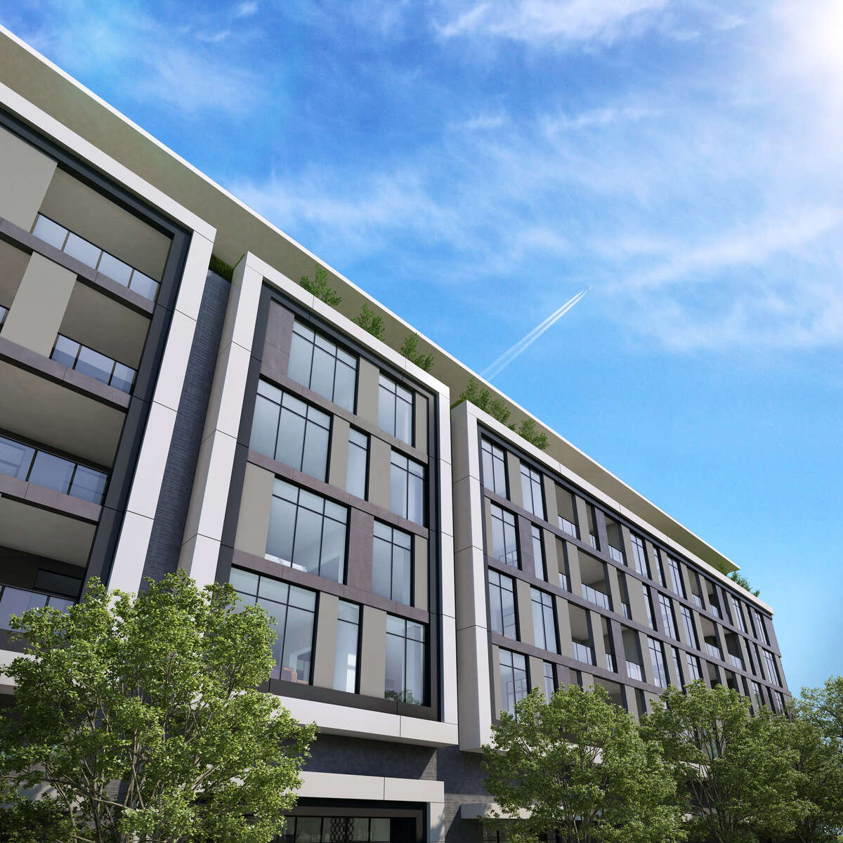 Renderings of a condo project planned for Steel Street in Upper Kirby. The project will carry a 118-year-old Italian furniture maker Giorgetti's brand. The project is a collaboration between the luxury Italian designer, Stolz Parnters, Mirador Group and Sudoff Companies.