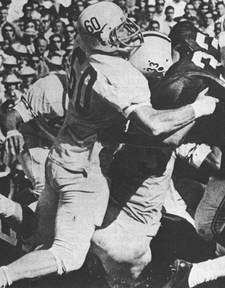 Tommy Nobis makes a tackles for UT in 1963. Photo: Courtesy Photo /UT Athletics