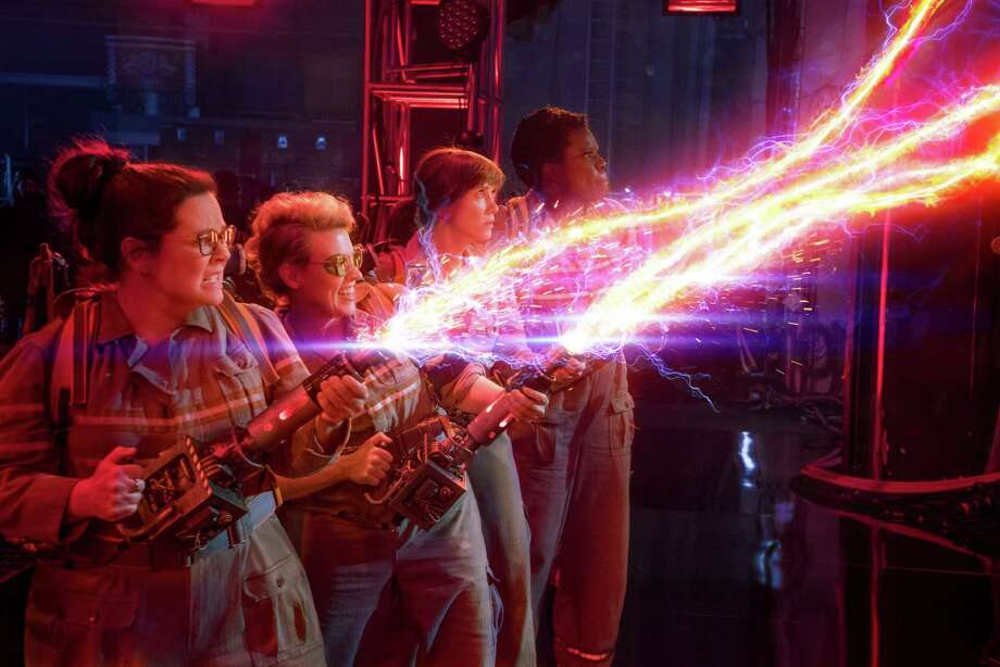 "Melissa  McCarthy, from left, Kate  McKinnon, Kristen Wiig and Leslie Jones star in ""Ghostbusters."" The flick may end up a feminist milestone. Photo: HONS / © 2016 CTMG, Inc. All Rights Reserved. **ALL IMAGES ARE PROPERTY OF SONY PICTURES ENTERTAINMENT INC. FOR PROMOTIONAL USE ONLY."