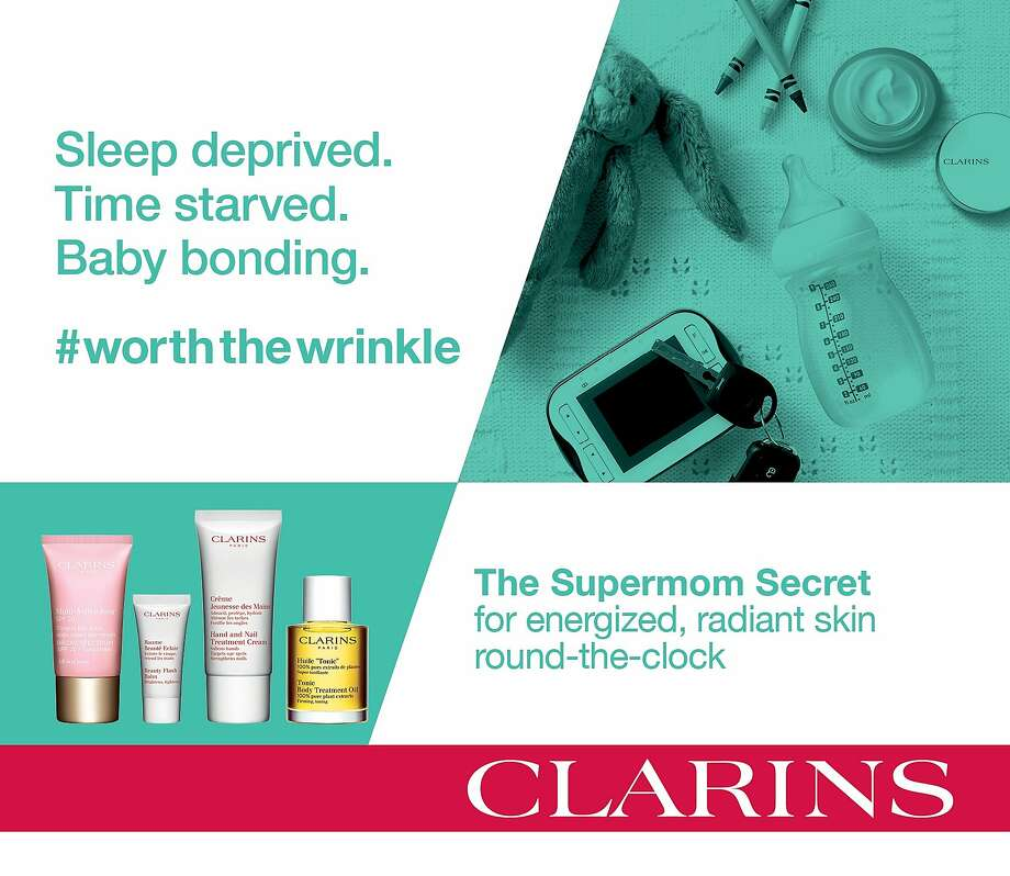 The Clarins hashtag campaign #worththewrinkle is meant to emphasize authenticity in women's lives. Photo: Sephora/Clarins