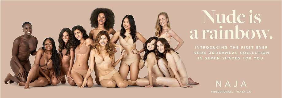 Lingerie brand Naja, founded in SF, launched its underwear collection with #nudeforall using regular women, not models. Photo: Naja