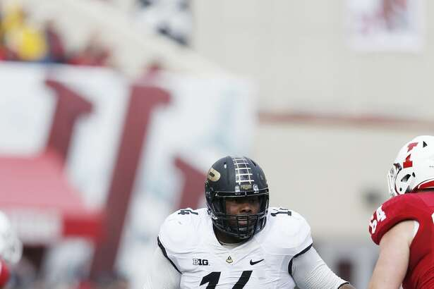 BLOOMINGTON, IN - NOVEMBER 29: Ra'Zahn Howard #14 of the Purdue Boilermakers in action against the Indiana Hoosiers during the game at Memorial Stadium on November 29, 2014 in Bloomington, Indiana. Indiana defeated Purdue 23-16. (Photo by Joe Robbins/Getty Images)