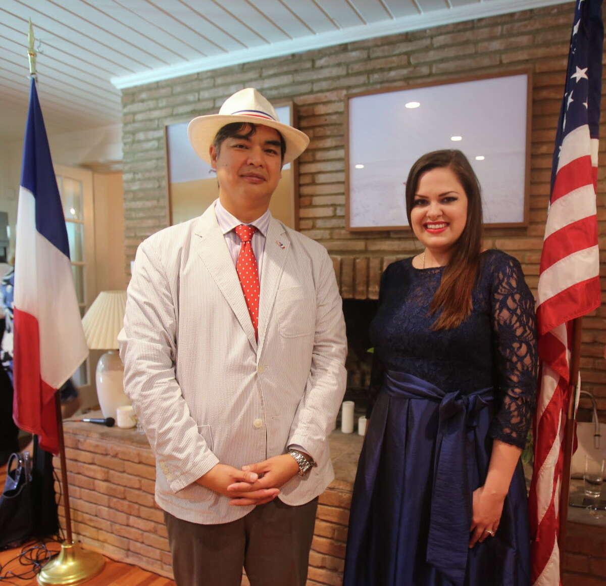 French Consul General Sujiro Seam and Renee Porter
