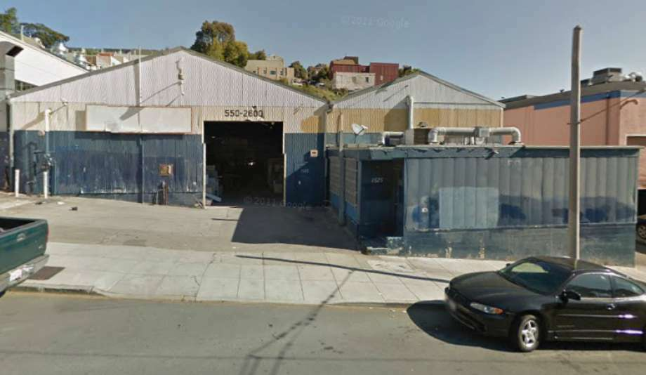 A Google street view image shows 1525 Cortland Ave. in San Francisco where two workers were crushed by a slab of granite in 2014. The company's owner, Meng Peng, 66, was charged Thursday with felony involuntary manslaughter in the workers' death. Photo: Google / /