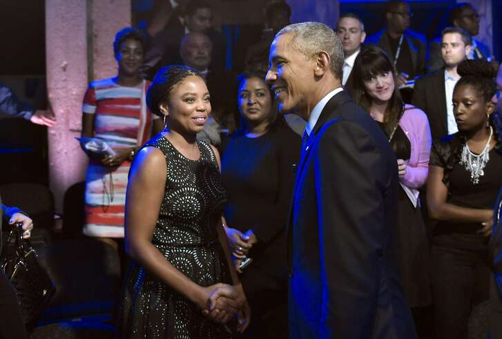 US President Barack Obama greets guests after taking part in a town hall discussion hosted by ABC at the Studio Theater on on July 14, 2016 in Washington, DC. / AFP PHOTO / MANDEL NGANMANDEL NGAN/AFP/Getty Images