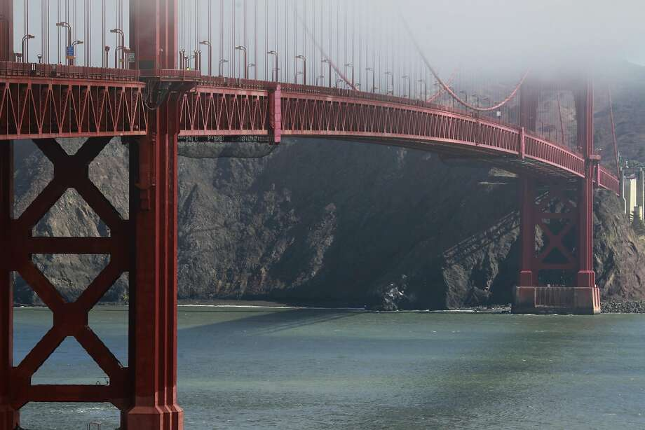 The Golden Gate Bridge District plans to go ahead with construction of a suicide barrier despite bids that were far above estimates. Photo: Paul Chinn, The Chronicle